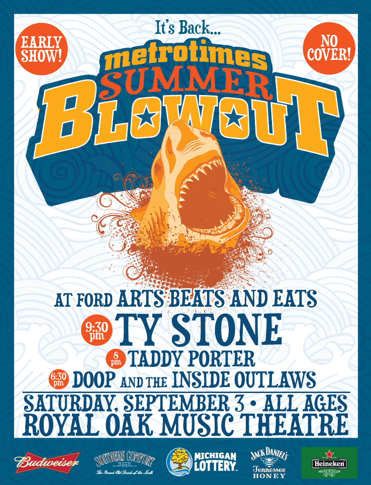 Ty Stone Metrotimes Summer Blowout